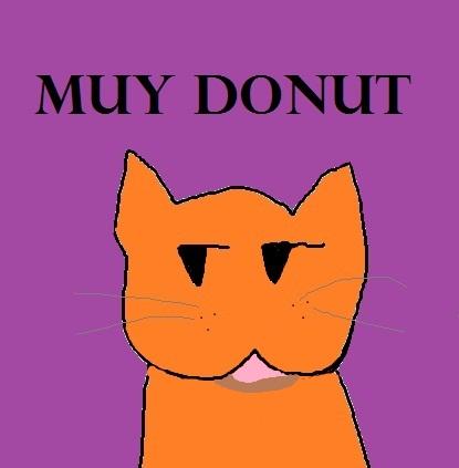 MUY DONUT (orange cat picture)